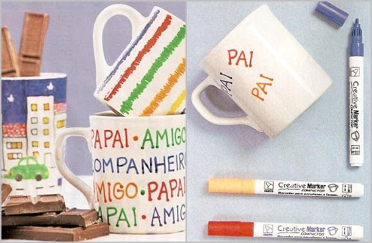 Passo a passo: Lembrancinha Dia dos Pais: caneca personalizada