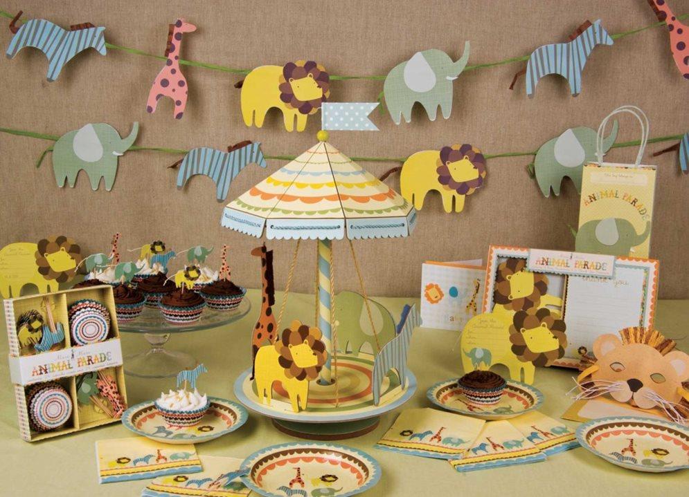 mesa para chá de bebê amarela