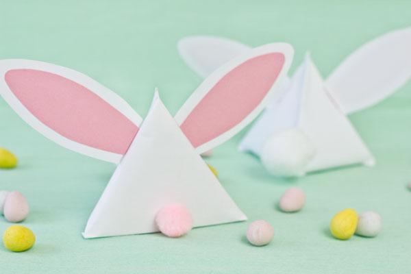 Passo a passo: Lembrancinha de Páscoa – coelhinho de papel