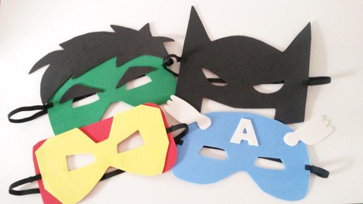 Máscaras de Super Herói em EVA – Passo a Passo